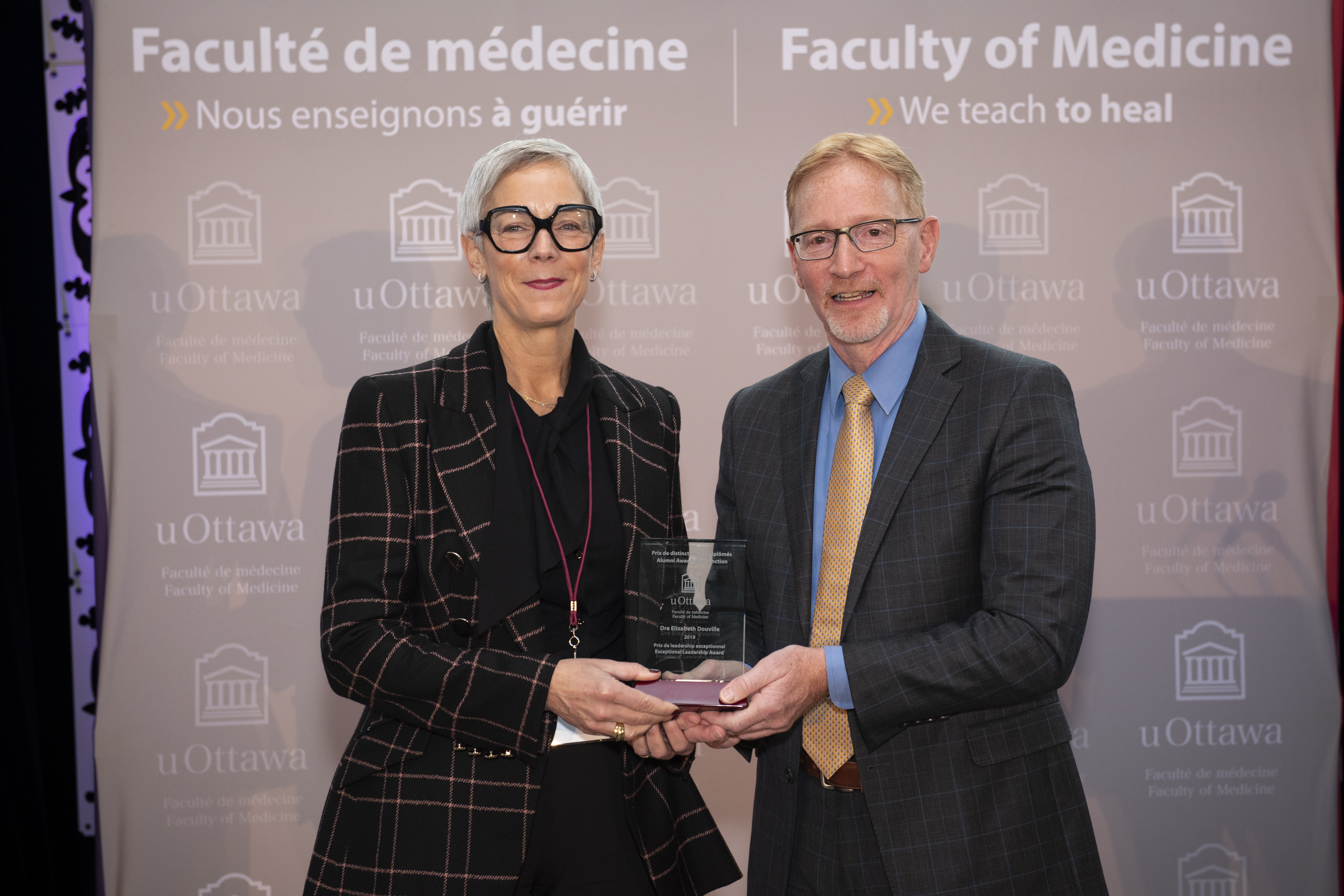 Dr. Douville receives Exceptional Leadership Award 2019