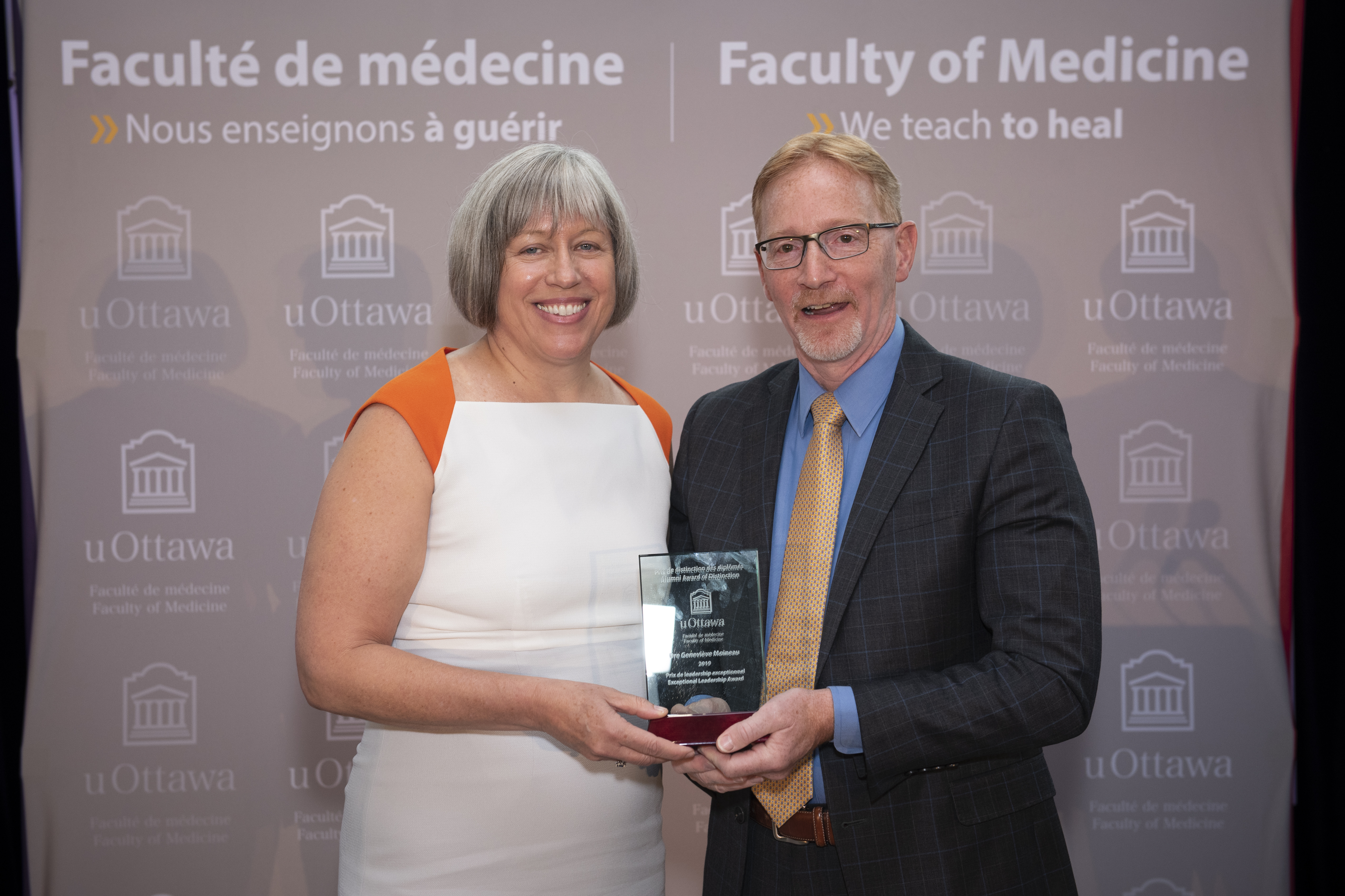 Dr. Moineau receives Exceptional Leadership Award