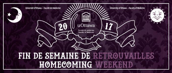 Retrouvailles de la Faculté de médecine, 15 au 17 septembre 2017 bannière