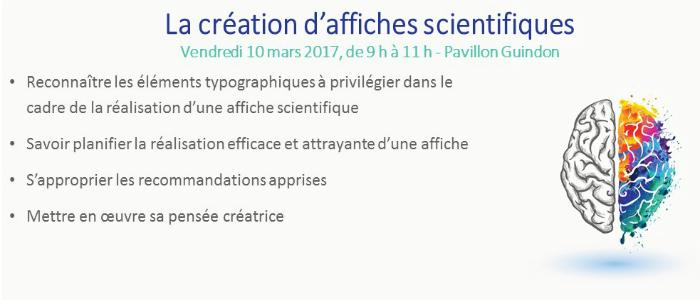 Affiche pour la promotion de la création d'affiches scientifiques
