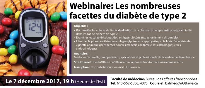 Affiche du webinaire : les nombreuses facettes du diabète de type 2