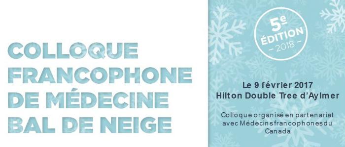 Affiche pour le colloque francophone de médecine Bal de neige