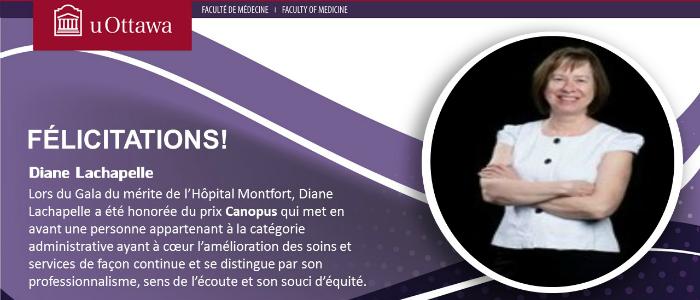 Le prix Canopus pour Diane Lachapelle