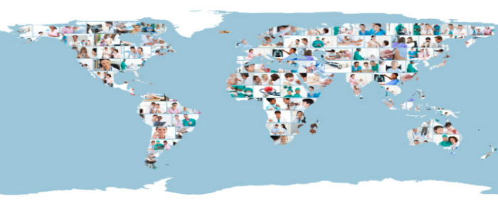 Carte du monde médicale