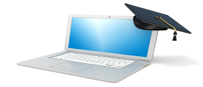 Ordinateur symbolisant l'apprentissage en ligne