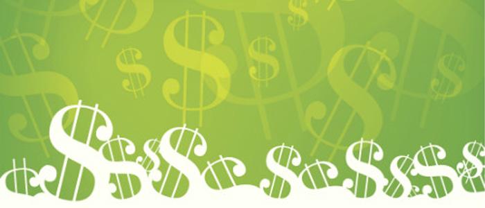 Des signes de dollars représentant l'appui financier possible