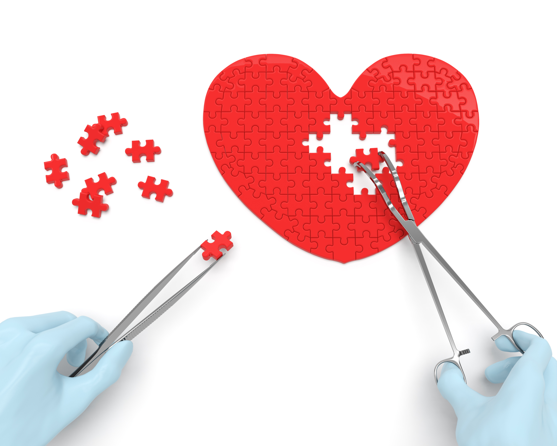 Coeur se faisant opéré pour symboliser le MINS