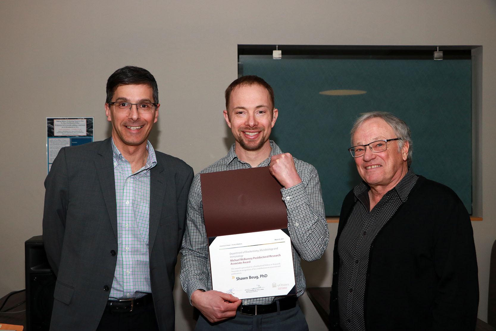 Dr. Daniel Figeys, Dr. Shawn Beug and Dr. Robert Korneluk
