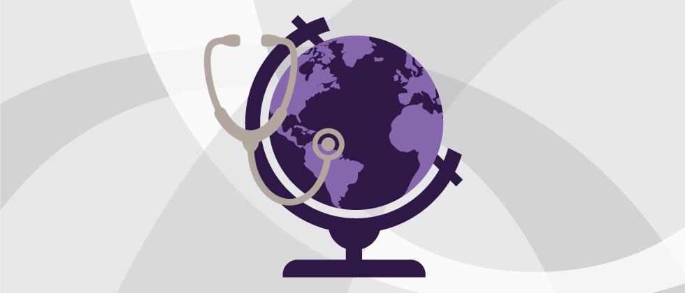 stethoscope around a globe