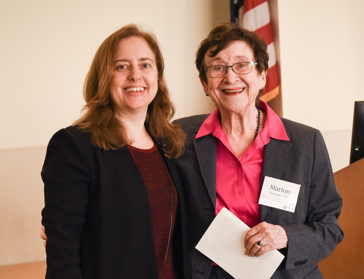 Dr. Trinkle-Mulcahy with Ph.D. Supervisor