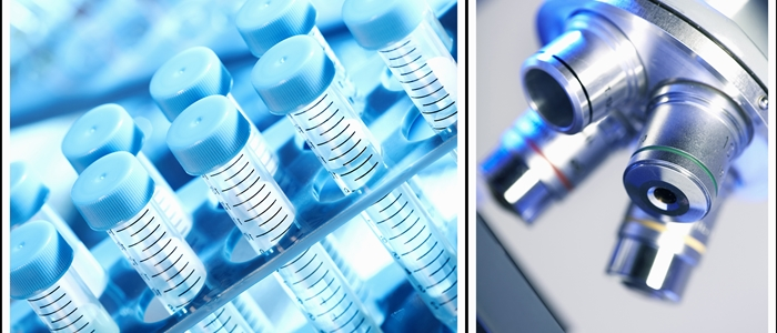 empty test tubes/microscope lenses