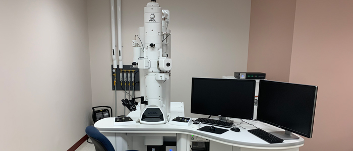 The transmission electron microscope located in room 2533 at Roger Guindon Hall.