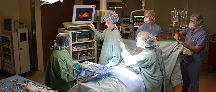 Simulation de chirurgie au Centre de compétences et de simulation de l'Université d'Ottawa