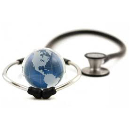 Stethoscope around planet earth