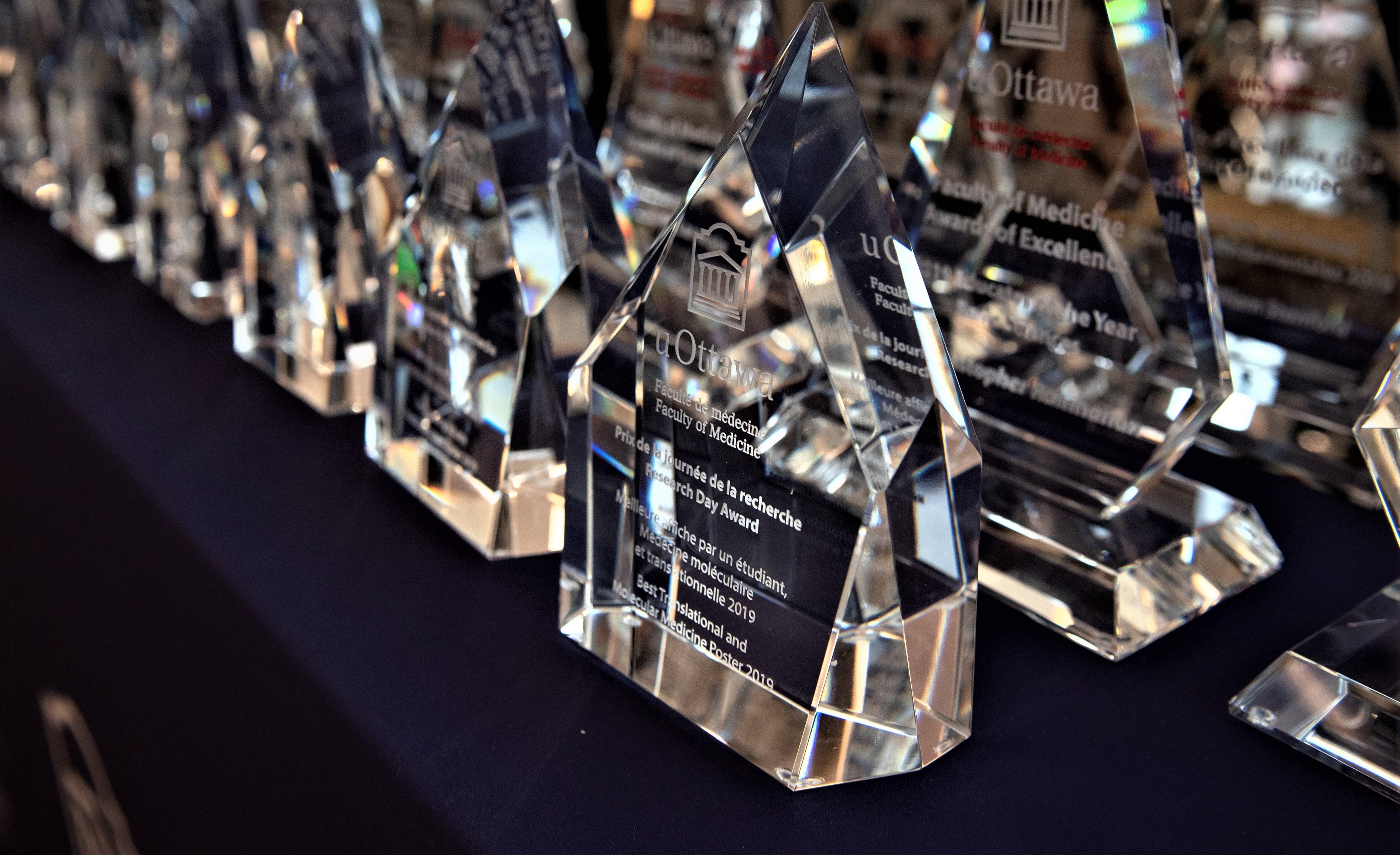 Awards on display at the Saturday night Gala.