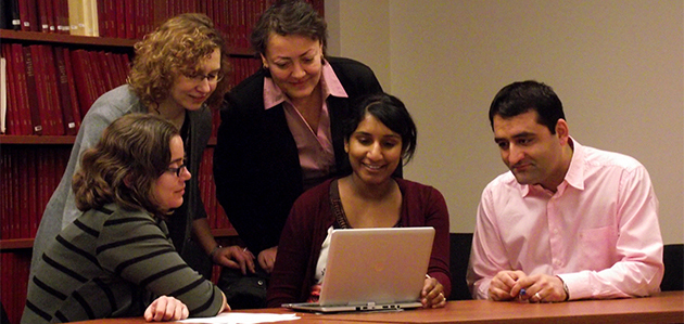 Public Health and Preventive Medicine Residency Program students working in a group