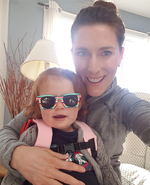 Dr. Shauna Hacker wither her daughter