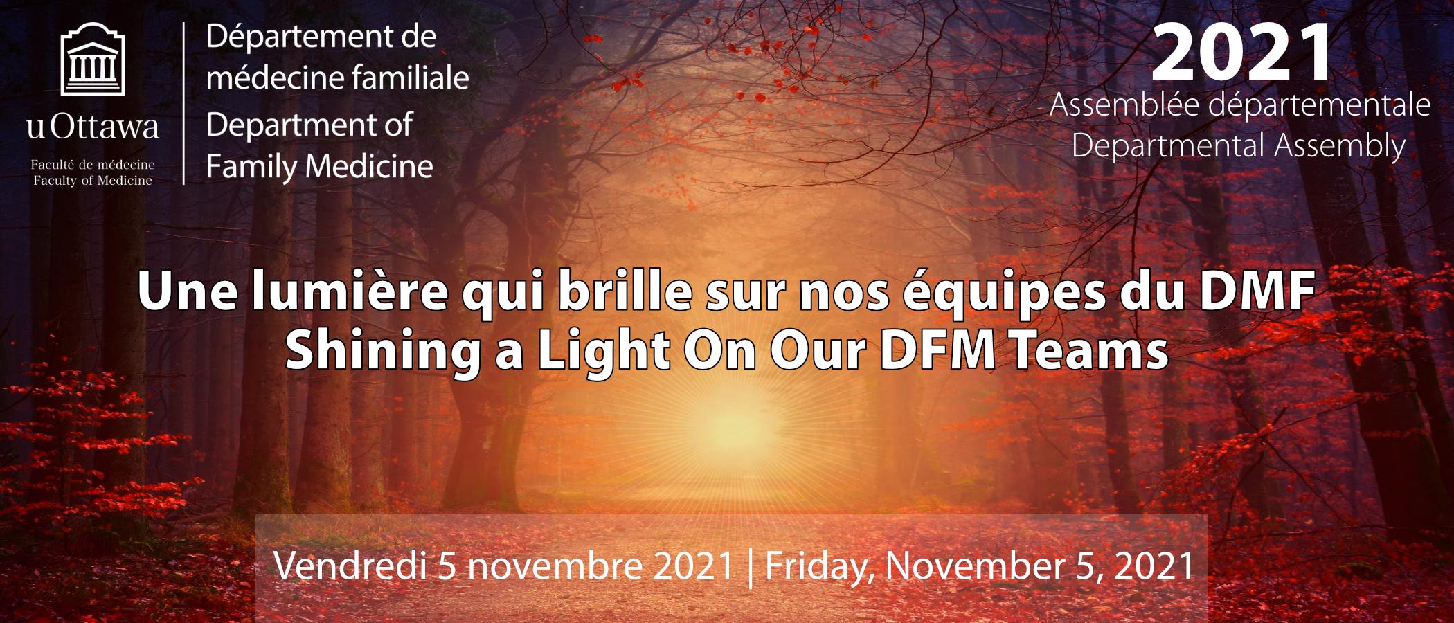 Une lumière que brille sur nos équipes du DMF