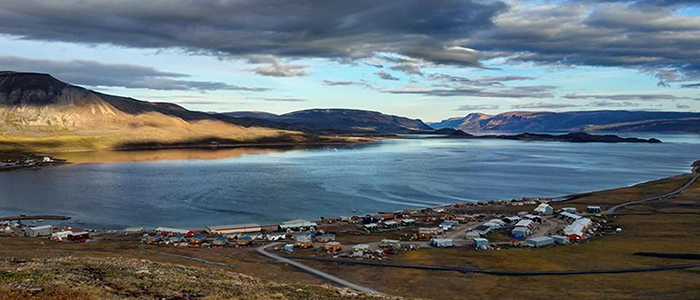 A view of Arctic Bay, Nunavut.