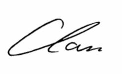 Clare Liddy signature