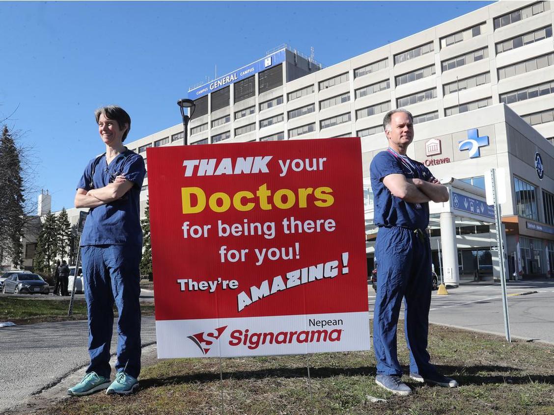 Dr. Daisy Moores and Dr. David Millar at the Ottawa Hospital