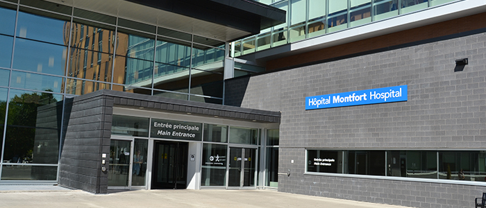 The Montfort Academic Family Health team is located at the Montfort Hospital, the only francophone community teaching hospital in Ontario.