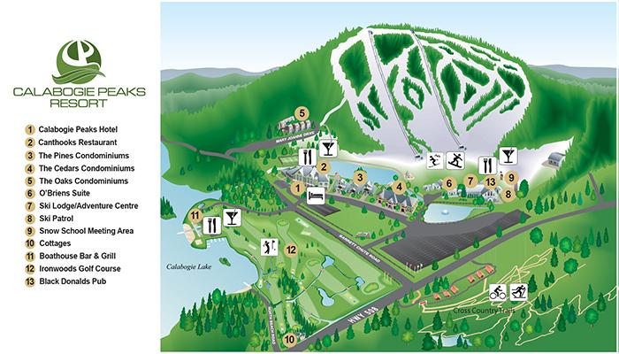Calabogie Peaks Resort map
