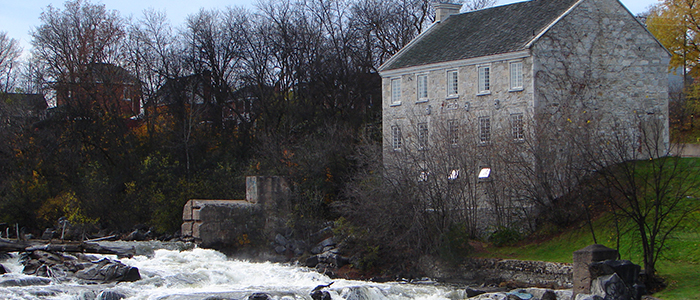 The Bonnechere River in Renfrew, Ontario, between Ottawa and Pembroke.