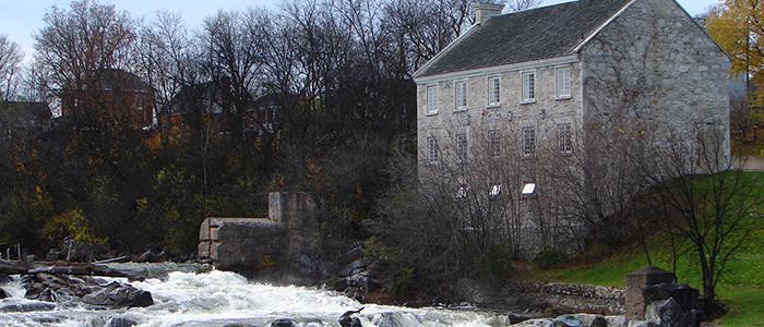 The Bonnechere River in Renfrew, Ontario, between Ottawa and Pembroke.