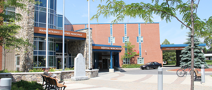 Winchester District Memorial Hospital, located in the Township of North Dundas, less than 30km south of Ottawa