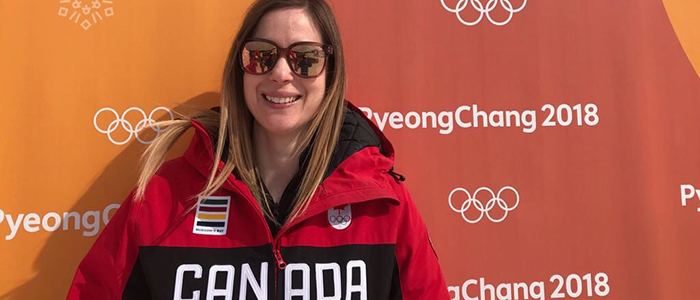 Dr. Jessica Curran in PyeongChang at the 2018 Olympics