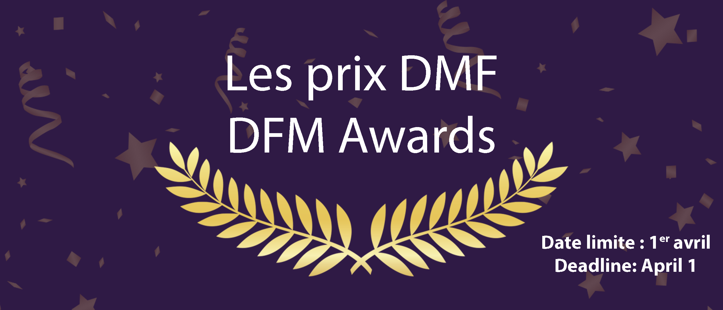 Confetti and laurel for the DFM Awards