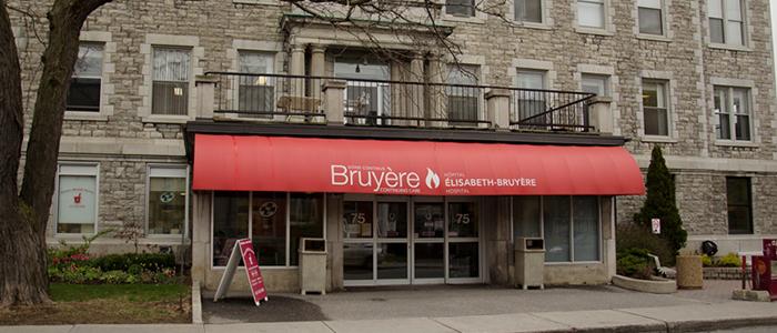 Le Centre de médecine familiale Bruyère au 75, rue Bruyère, au centre-ville d'Ottawa