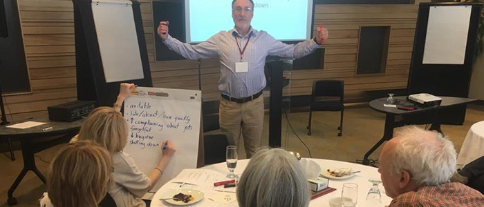 Dr. David Tobin at the Community Retreat