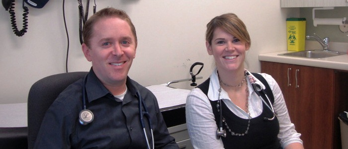 Primary Preceptor Dr. Andrew Kujavsky and his resident at the West End Family Care Clinic.