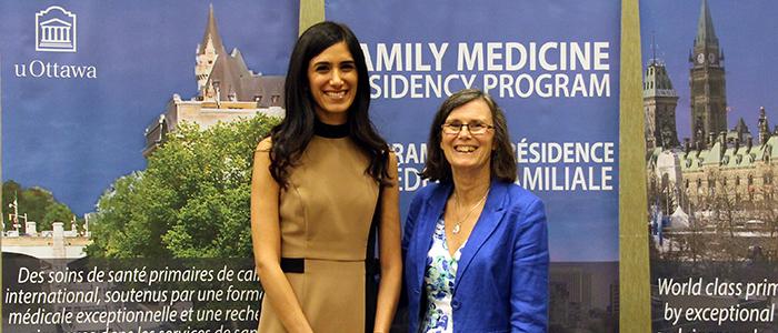 Dr. Elise Azzi and Dr. Dianne Delva