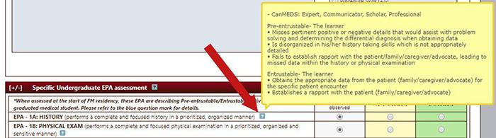 Screenshot showing tool tips
