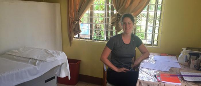 Dr. Maude B. Perras in Georgetown, Guyana