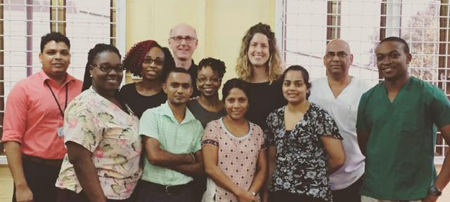 Dr. Tariq Jagnarine, Dr. Aneisha Moore, Dr. Tamica Daniels-Willamson, Dr. Mahendra Raghunauth, Dr. Chuck Adamson, Dr. Krystle Fraser, Dr. Indira Bhoj, Dr. Maude B. Perras, Dr. Sahodra Rambharose, Dr. Kampta Prashad and Dr. Kwesi Vancooten