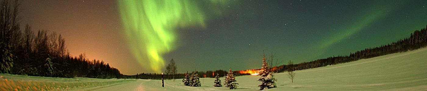 Aurora borealis dans le nord de l'Ontario