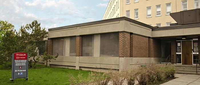 Le Centre de médecine familiale Primrose au 35, avenue Primrose, au centre-ville d'Ottawa