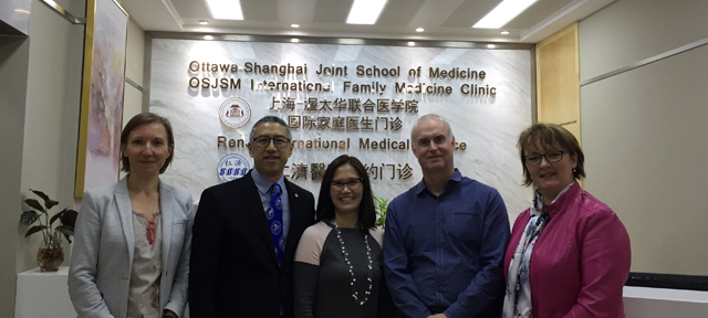uOttawa representatives at the Ottawa Shanghai Joint School of Medicine (OSJSM)