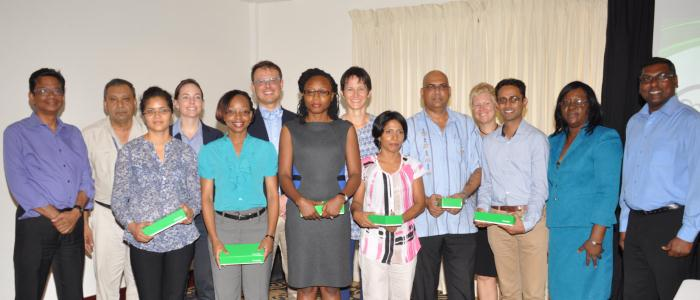 The Class of 2016 Family Medicine residents in Guyana at the official launch of the program in Georgetown, Guyana May 2015.