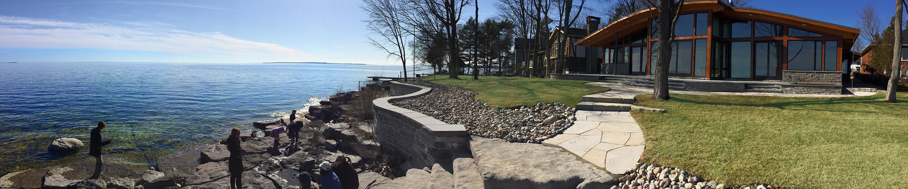 Views of Lake Ontario from Dr. Delva's home