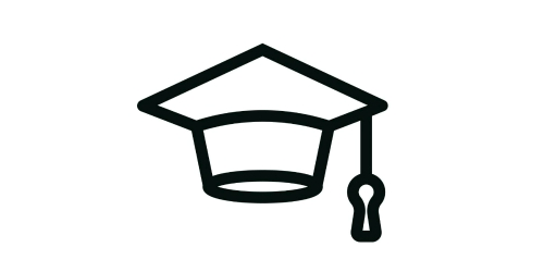 Image de mortier symbolisant les titres universitaires