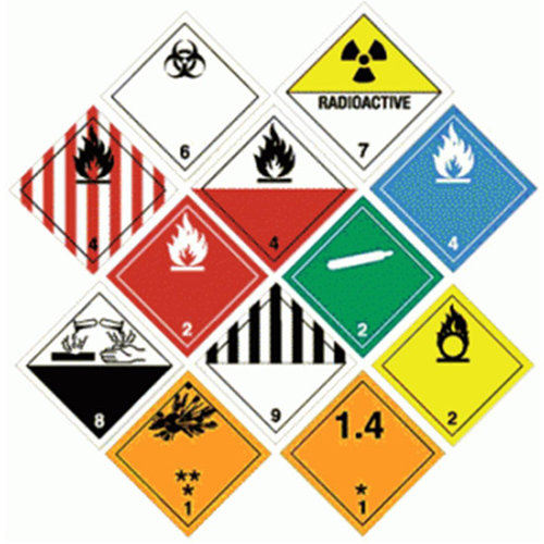 Transportation of Dangerous Goods placards