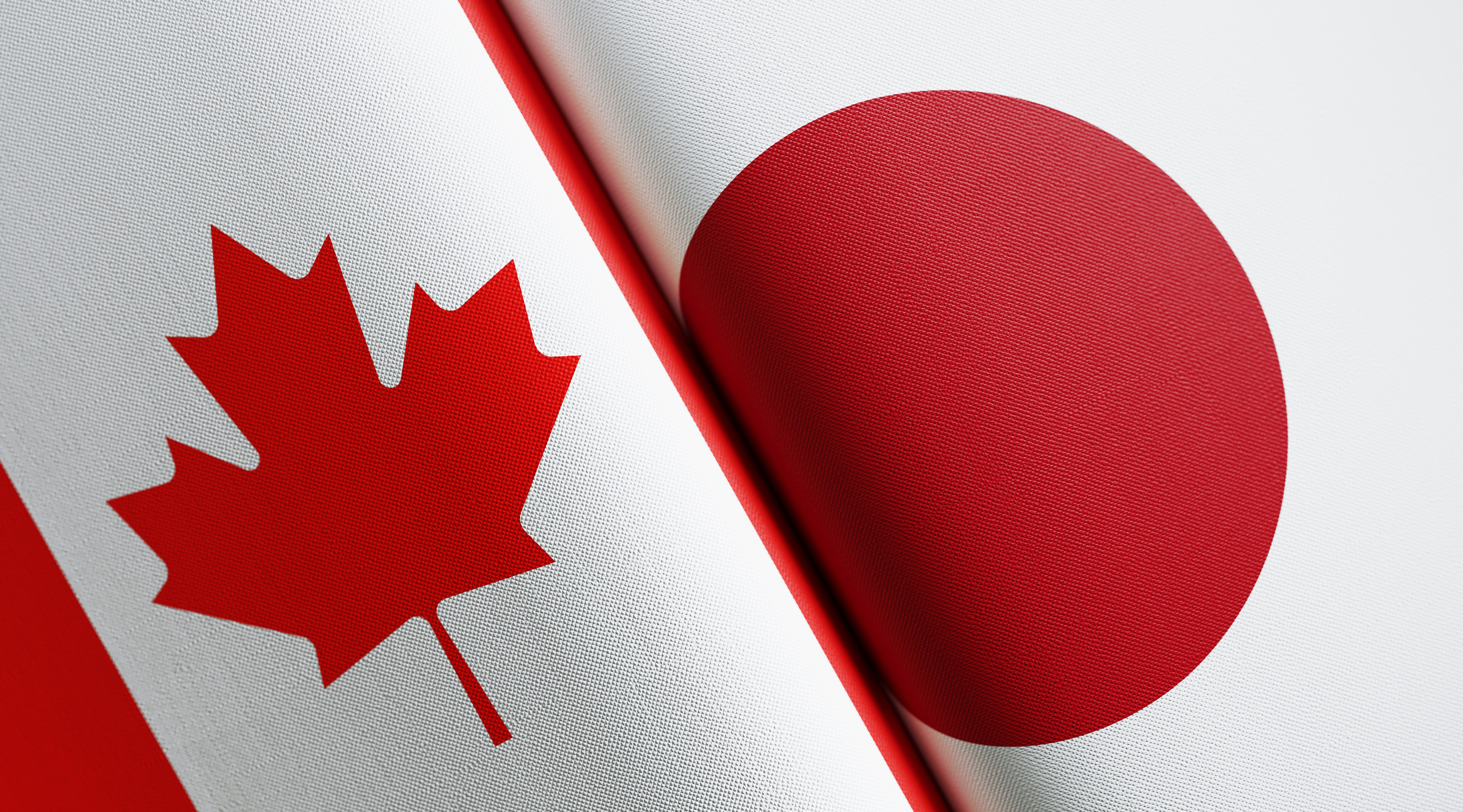 Canadian and Japanese Flag