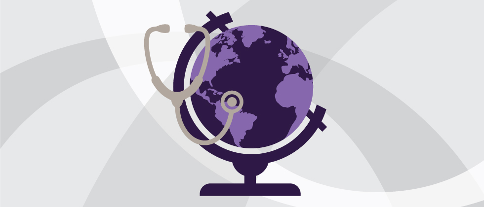 stethoscope around a globe