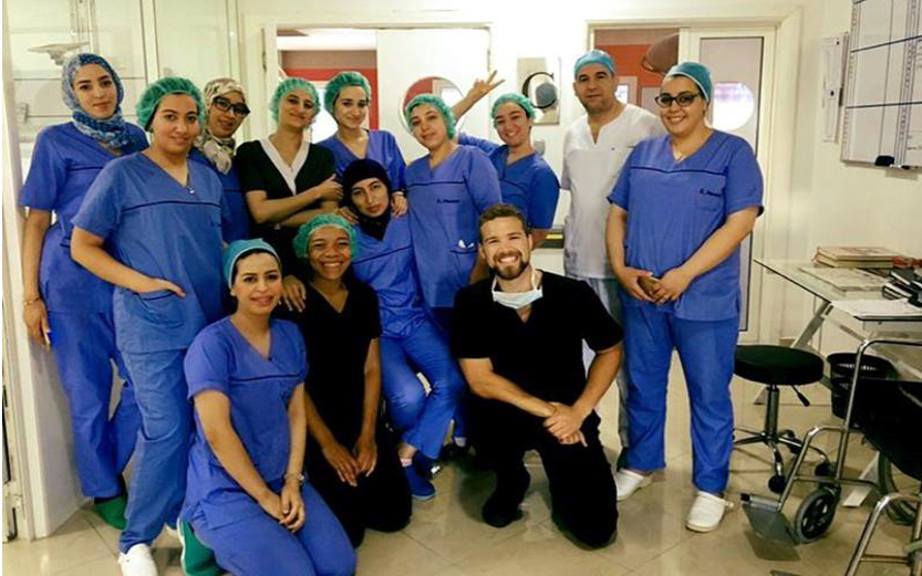 Medical students undertaking a clinical elective at Clinique du Detroit in Tangier, Morocco (Lissa Bair and Alexander Roy)