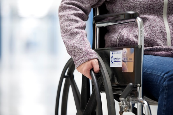A patient in a wheelchair
